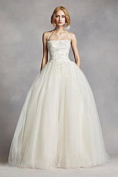 White by Vera Wang Tulle Halter Wedding Dress VW351277