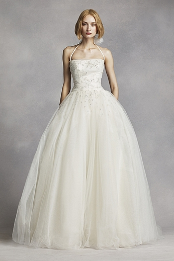 Tulle Halter Ball Gown with Crystal Beading VW351277