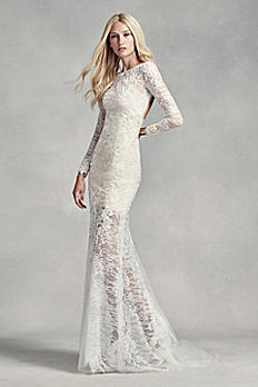 White by Vera Wang Lace and Beads Wedding Dress VW351291