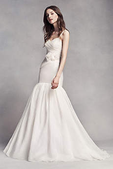 Long Mermaid/ Trumpet Simple Wedding Dress - White by Vera Wang
