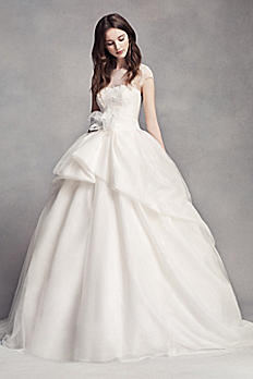 White by Vera Wang Lace Illusion Wedding Dress VW351315