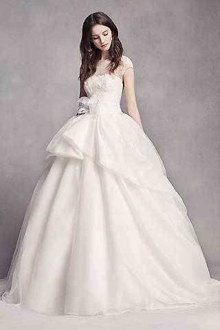 Wedding dresses with skirt drama davids bridal long ballgown modern chic wedding dress white by vera wang junglespirit Gallery