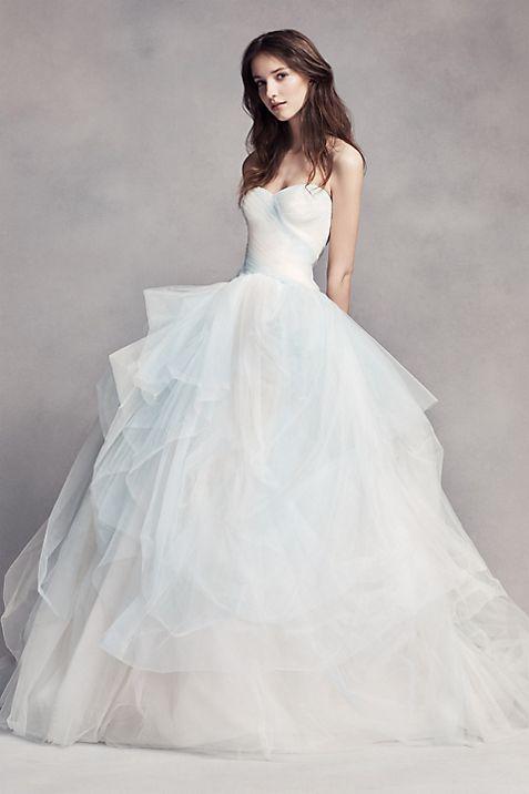 White by Vera Wang Hand Draped Wedding Dress | David\'s Bridal