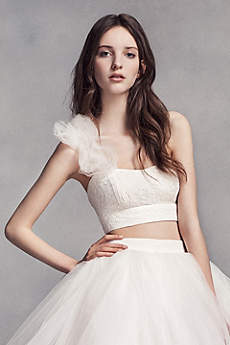 Short Separates Modern Chic Wedding Dress - White by Vera Wang