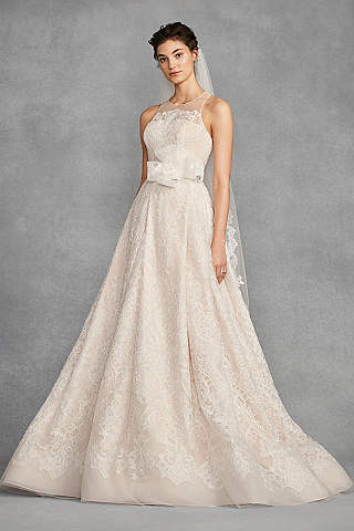 Long A Line Vintage Wedding Dress White By Vera