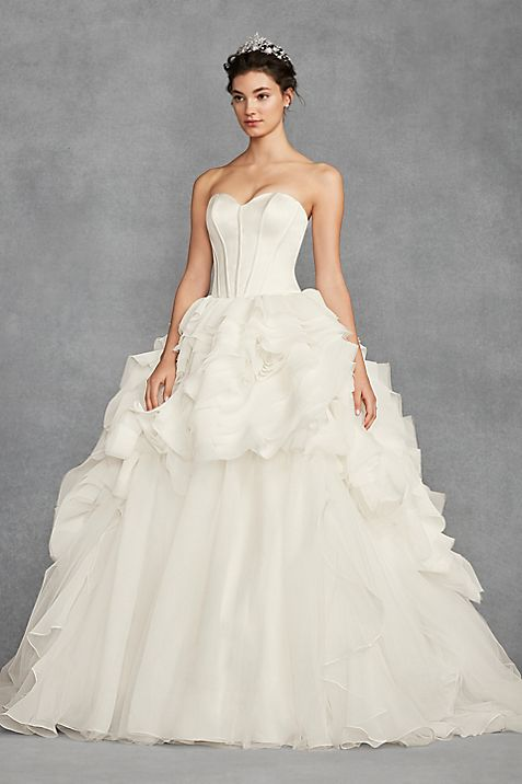 Long Ballgown Formal Wedding Dress White By Vera