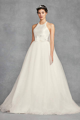 Long Ballgown Simple Wedding Dress White By Vera