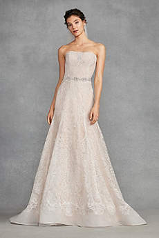 Long Mermaid/ Trumpet Vintage Wedding Dress - White by Vera Wang