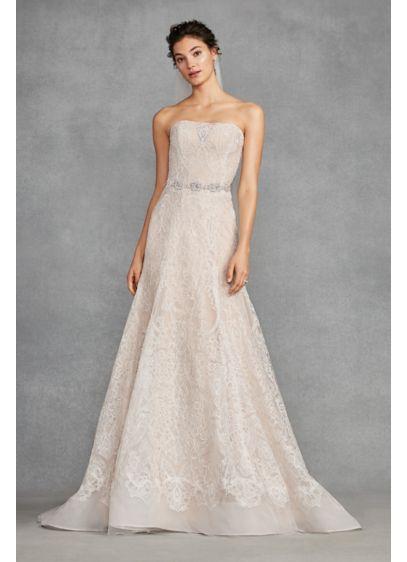 White by Vera Wang Macrame Trumpet Wedding Dress | David\'s Bridal