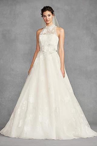 Genial Long Ballgown Romantic Wedding Dress   White By Vera Wang