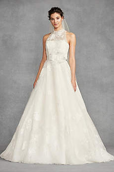 Long Ballgown Romantic Wedding Dress - White by Vera Wang