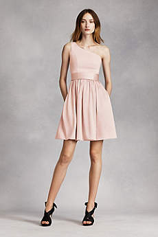Soft & Flowy Short Bridesmaid Dress