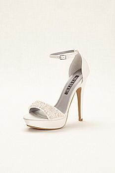 White by Vera Wang Embellished Platform Sandals VW371501