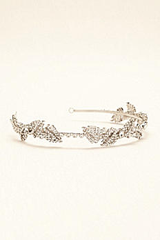 Pave Leaf Embellished Headband VW374509