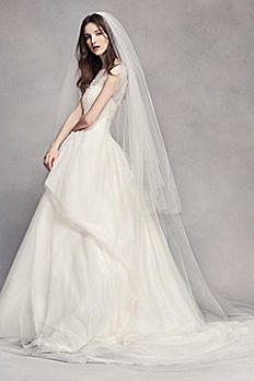 Two Tier Tulle Cathedral Veil VW37V04
