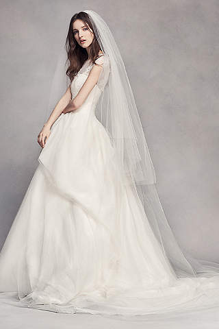 Two Tier Tulle Cathedral Veil