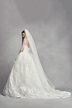 Two-Tier Cathedral Veil with Lace Appliques VW37V07