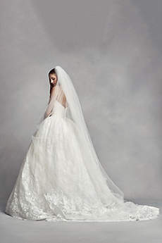 Two-Tier Cathedral Veil with Lace Appliques