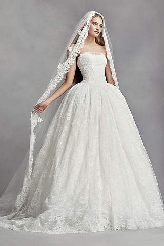 Lace Liqued Mantilla Style Cathedral Veil