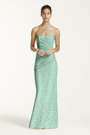 Long strapless dresses