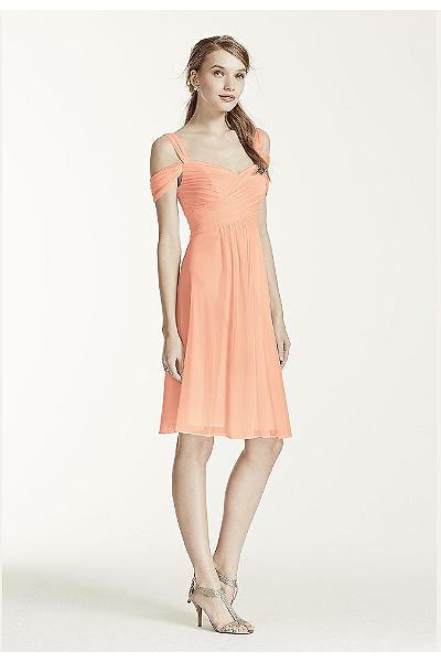 strapless chiffon short dress style f12284 | ivo hoogveld
