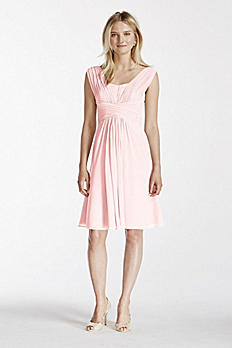 Pleated Chiffon Short Tank Dress W10833