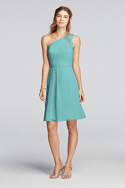 david's bridal strapless chiffon short dress style f12284 | ivo ...