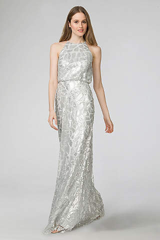 Donna Morgan Long Bridesmaid Dress