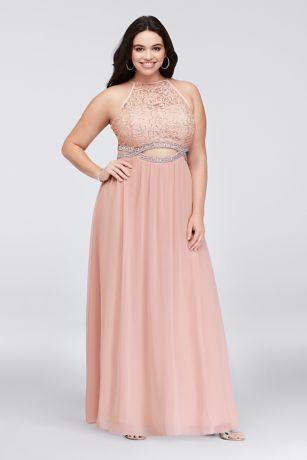 Infinity Cutout Lace And Chiffon Plus Size Gown David S