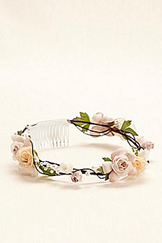 Shades of Roses Flower Crown W9099