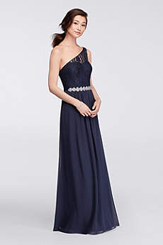 Long A-Line One Shoulder Mother and Special Guest Dress - David's Bridal