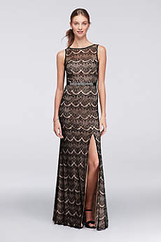 Long Sheath Tank Military Ball Dress - David's Bridal