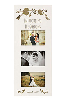 Personalized Floral Wedding Multi Photo Frame WD-2318