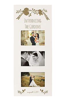 Personalized Floral Wedding Multi Photo Frame