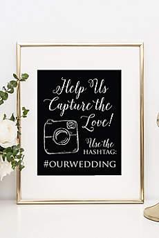 Personalized Wedding Hashtag Reception Sign