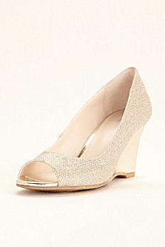 Simply Pelle Glitter Peep Toe Wedge WENDIE