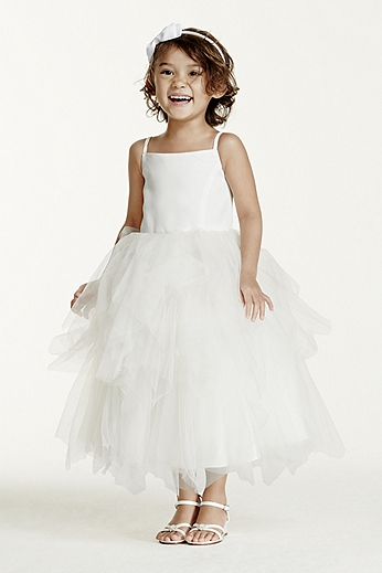 Tiered Tea-Length Tulle Dress WG1253
