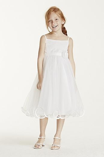 Spaghetti Strap Tea Length Ball Gown WG1319