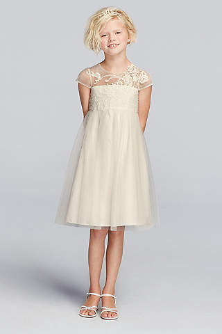 Lace & Vintage Flower Girl Dresses | Davids Bridal