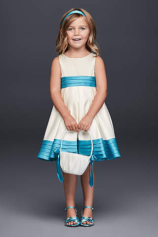 flower girl dresses in various colors styles david s bridal