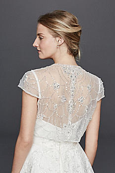 Beaded Jacket with Scroll Work on Back WG162