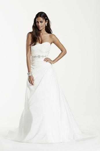 Taffeta A Line Gown with Sweetheart Neckline WG3243