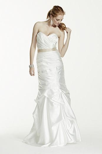 Sweetheart Charmeuse Pick-Up Wedding Dress WG3339