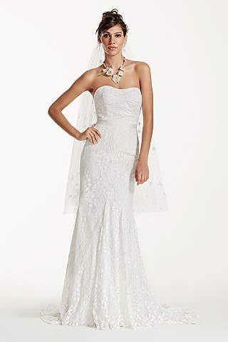 Petite wedding dresses gowns for petite women davids bridal long sheath beach wedding dress galina junglespirit Gallery