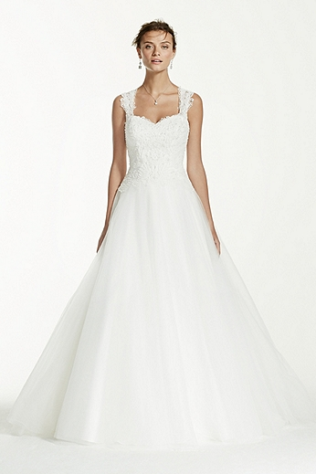 Tulle Ball Gown with Illusion Back Detail WG3671