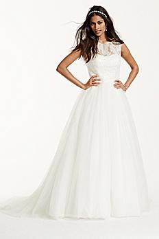 Cap Sleeve Tulle Wedding Dress with Illusion Neck WG3672