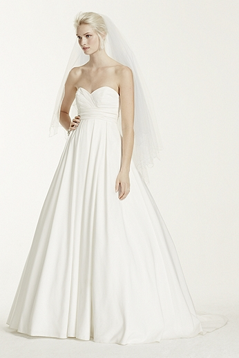 Faille Strapless Empire Ball Gown WG3707