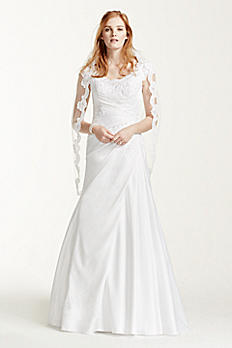 Satin Beaded Lace Off the Shoulder Wedding Dress WG3713