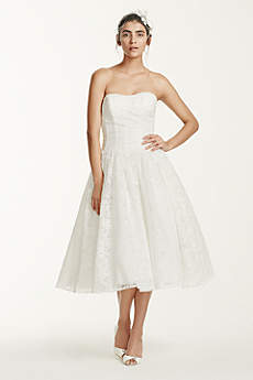 Short &amp- Tea Length Wedding Dresses - David&-39-s Bridal
