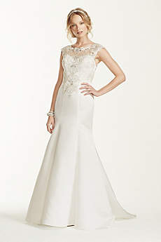 Long Mermaid/ Trumpet Formal Wedding Dress - Jewel